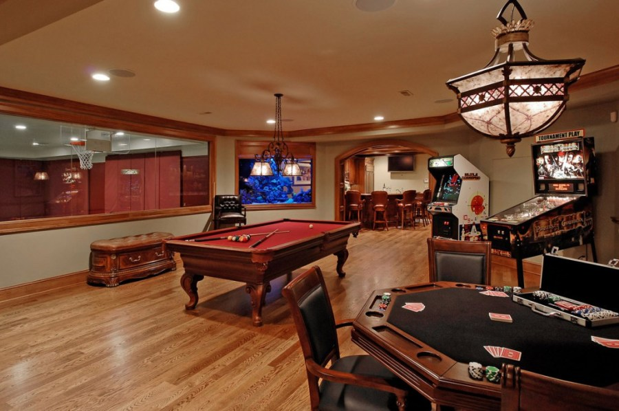 A Game Room for Adult That Will Make Your Leisure Time more Fun     interior design games for adults and stunning game room ideas with card  table and billiard tablr