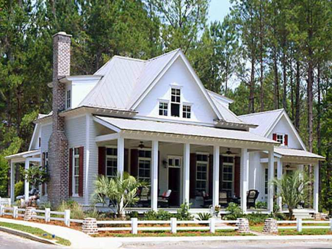 Find the Newest Southern Living House Plans with Pictures Catalog     wonderful white southern living house plans with pictured design with black  accent with tall chimney and