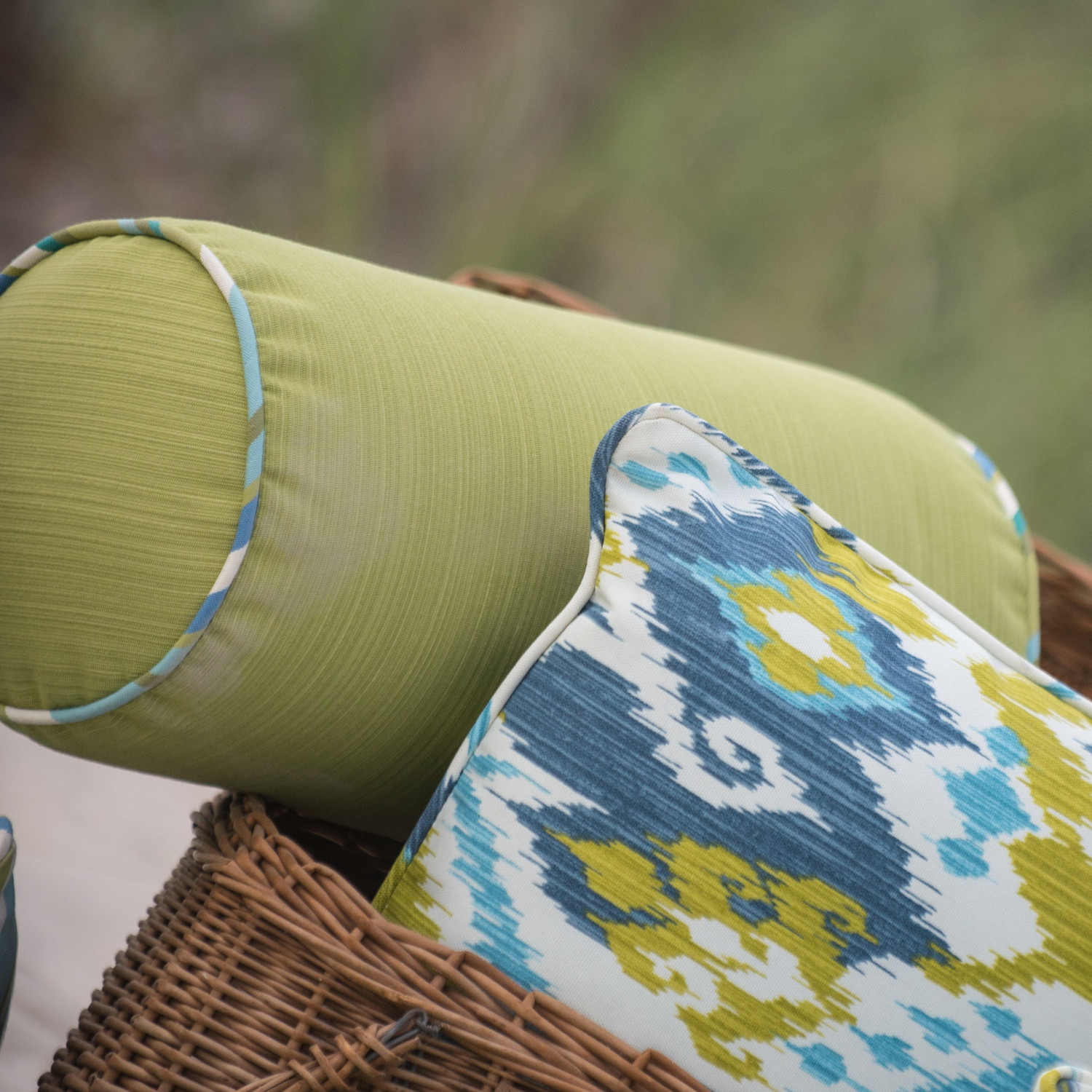 Outdoor Bolster Pillows Creating An Instant Decor To