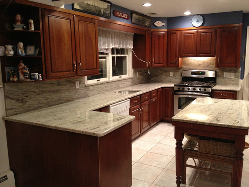 Add Luxury to Your Kitchen with River White Granite ... on Backsplash Ideas For Black Granite Countertops And Cherry Cabinets  id=56943