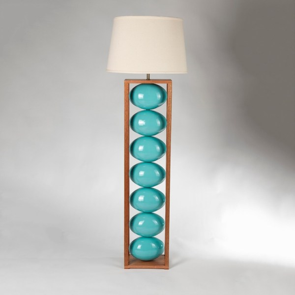 A Turquoise Floor Lamp Enlightening Your Room Dramatically ...