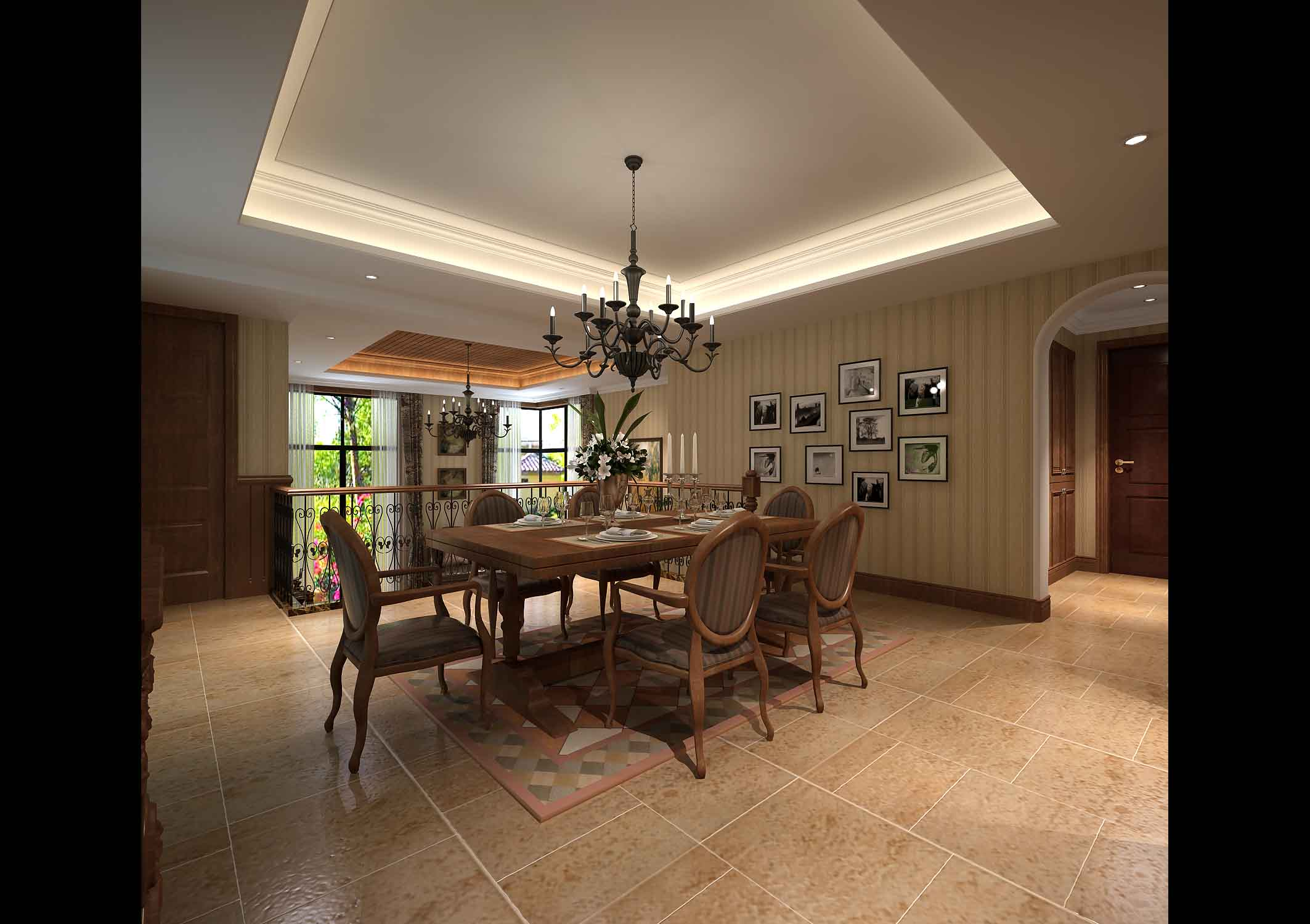 Chandelier in Dining Room Inspiration - HomesFeed on Dining Table Ceiling Design  id=65722