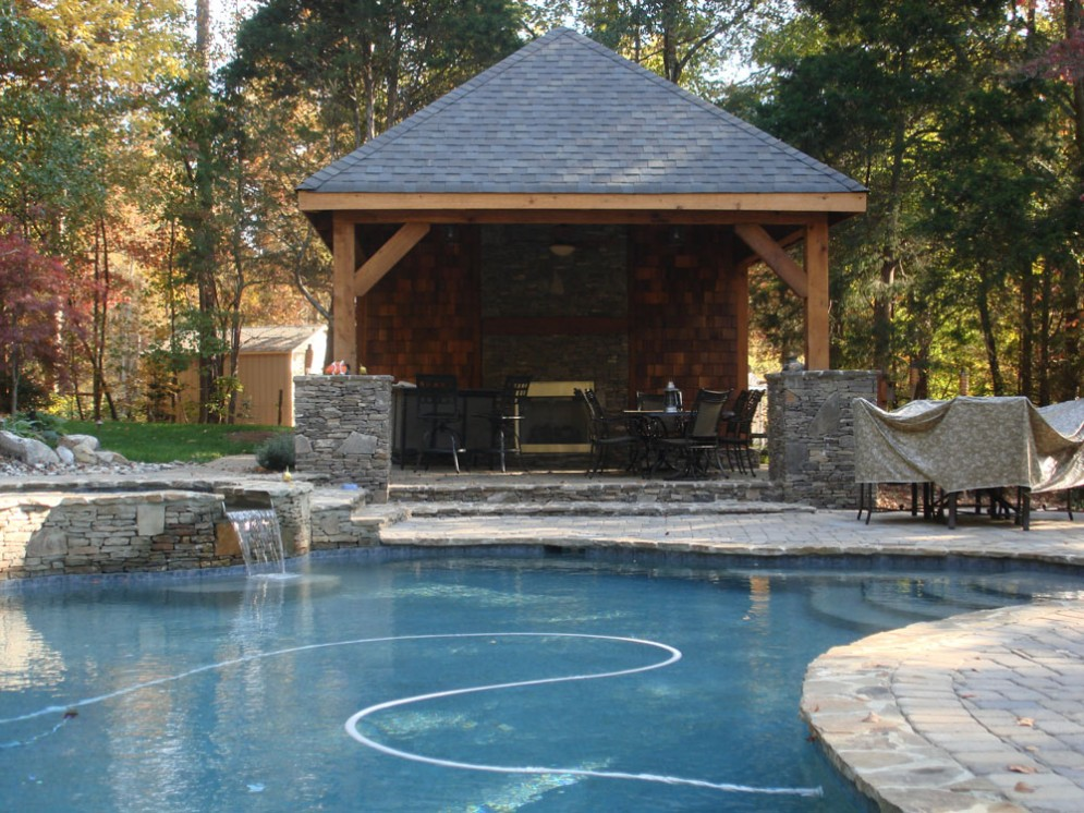 Pool Cabana Plans That Are Perfect for Relaxing and ... on Small Pool Cabana Ideas id=86691