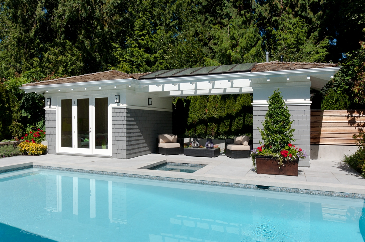 Pool Cabana Plans That Are Perfect for Relaxing and ... on Small Pool Cabana Ideas id=34810