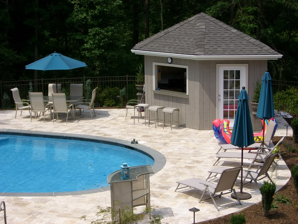 Pool Cabana Plans That Are Perfect for Relaxing and ... on Cabana Designs Ideas id=72495