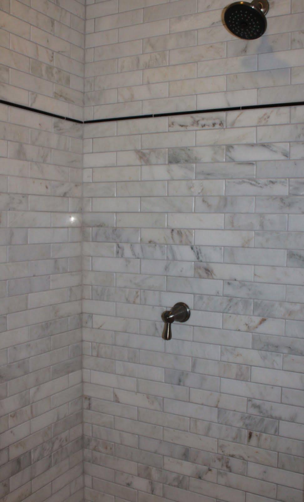Marble Subway Tile Shower Offering the Sense of Elegance ... on Bathroom Ideas Subway Tile  id=48518