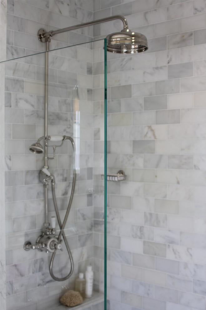 Marble Subway Tile Shower Offering the Sense of Elegance ... on Bathroom Ideas Subway Tile  id=30854