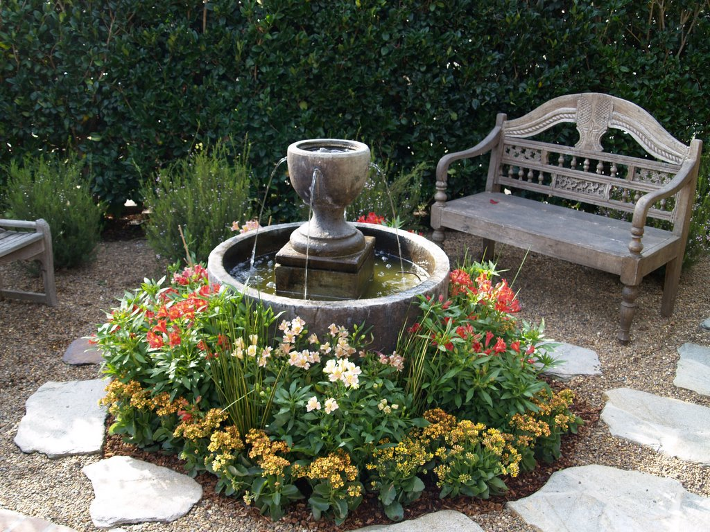 Front Yard Fountain Takes the Best Water Feature for ... on Small Backyard Water Features id=92685