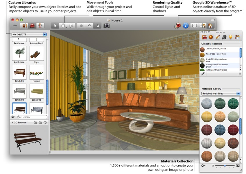 Design Your Own Home Using Best House Design Software   HomesFeed A displyed living room design in 3 dimension drafted by using home designer  software