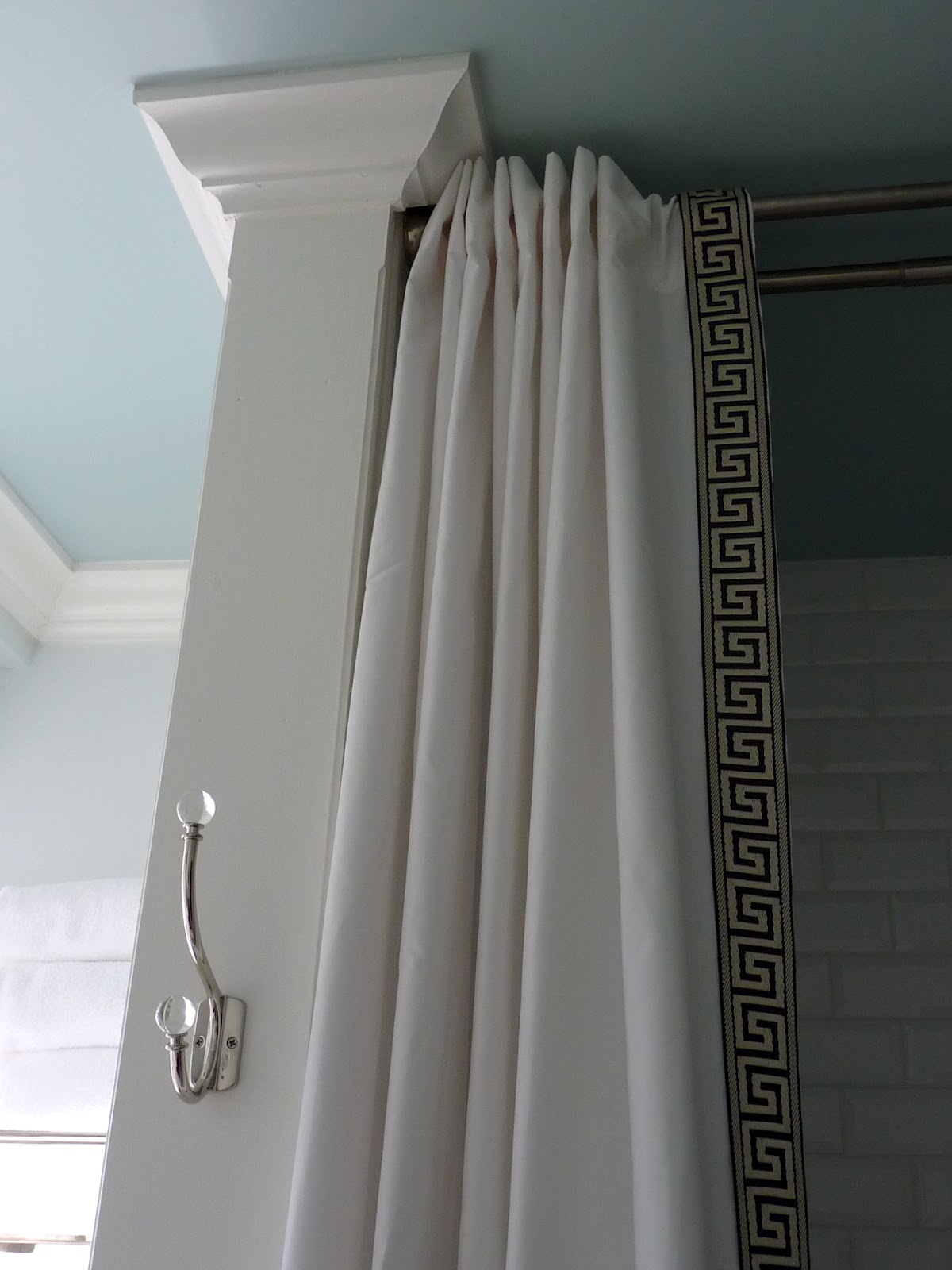 Ceiling Mounted Shower Curtain