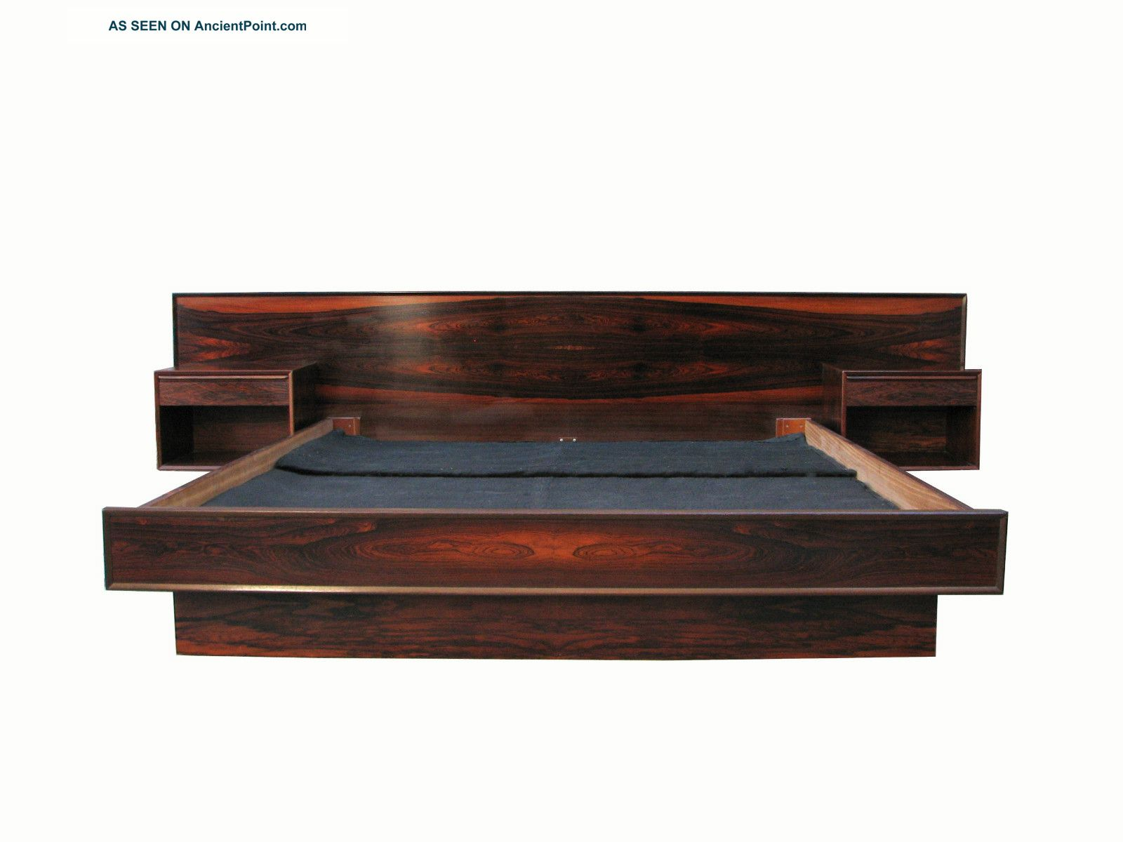 King Size Wooden Bed Frame With Storage
