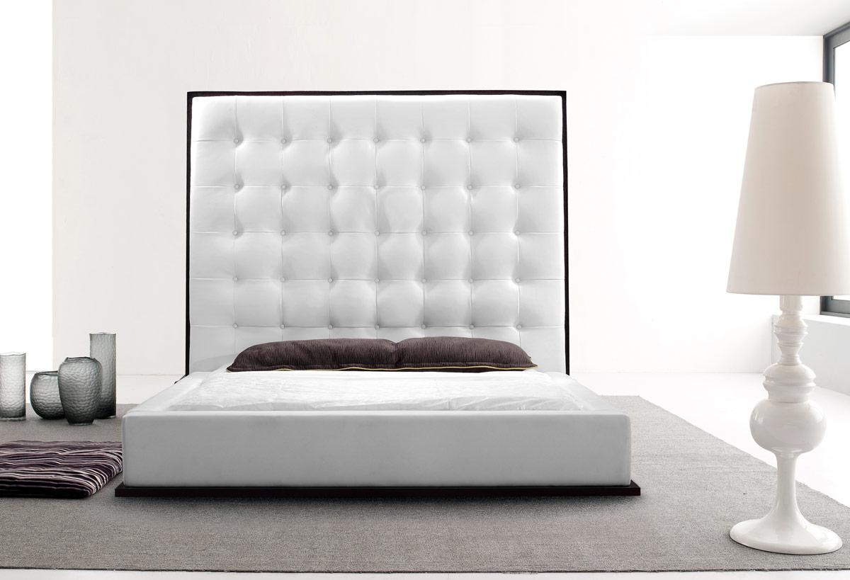 White Leather Headboard Queen HomesFeed