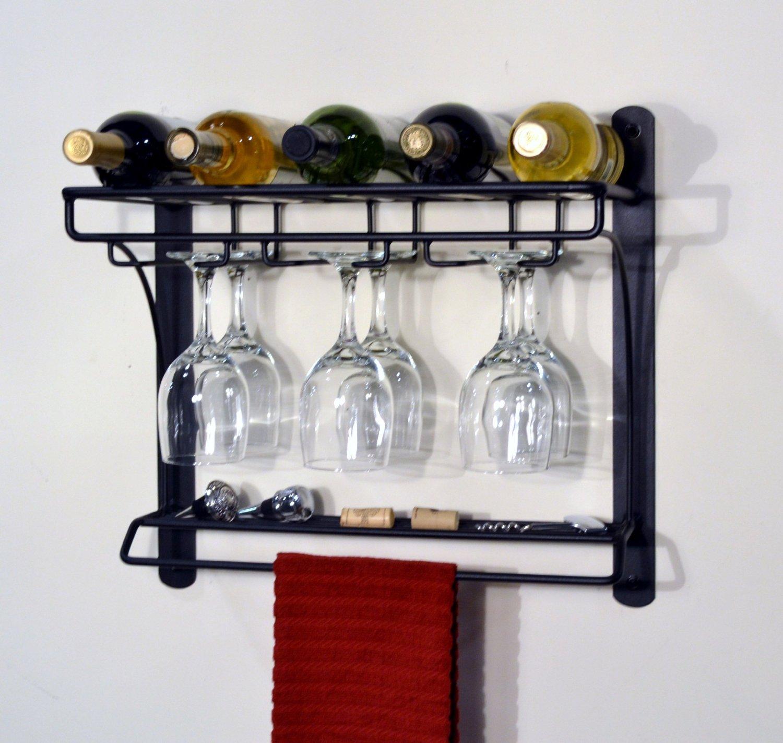 Wine Rack Hanging Wine Holder Floating Wine Shelf Wall