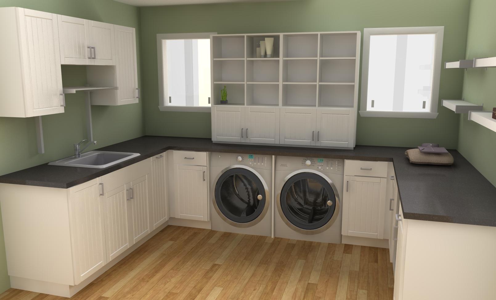 Shelving for Laundry Room Ideas - HomesFeed on Laundry Cabinet Ideas  id=68998