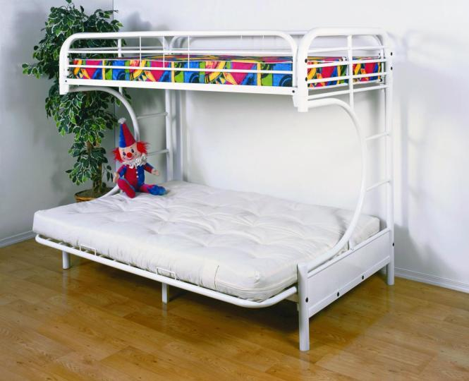 Stunning White Low Profile Bunk Bed Idea With Colorful Bedding And Convertble Style Potte Dplant