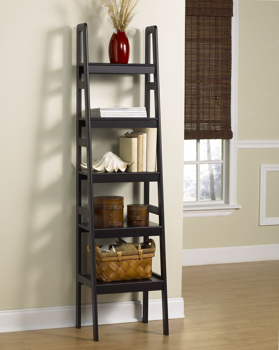 Leaning Ladder Bookshelf | HomesFeed on Shelf Sconces For Living Rooms Contemporary id=62714