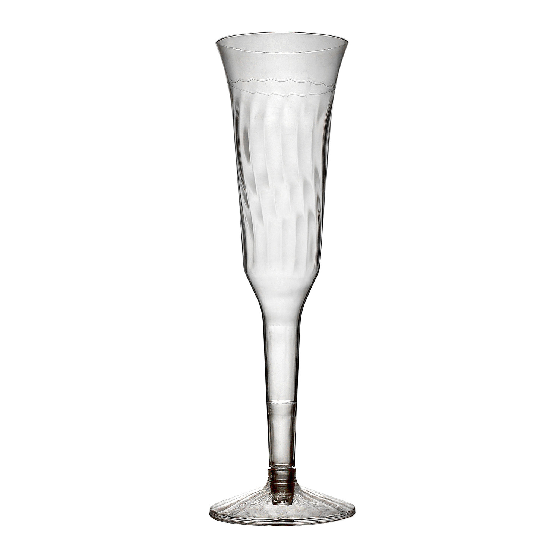 Mini Plastic Champagne Glasses Wedding Favor