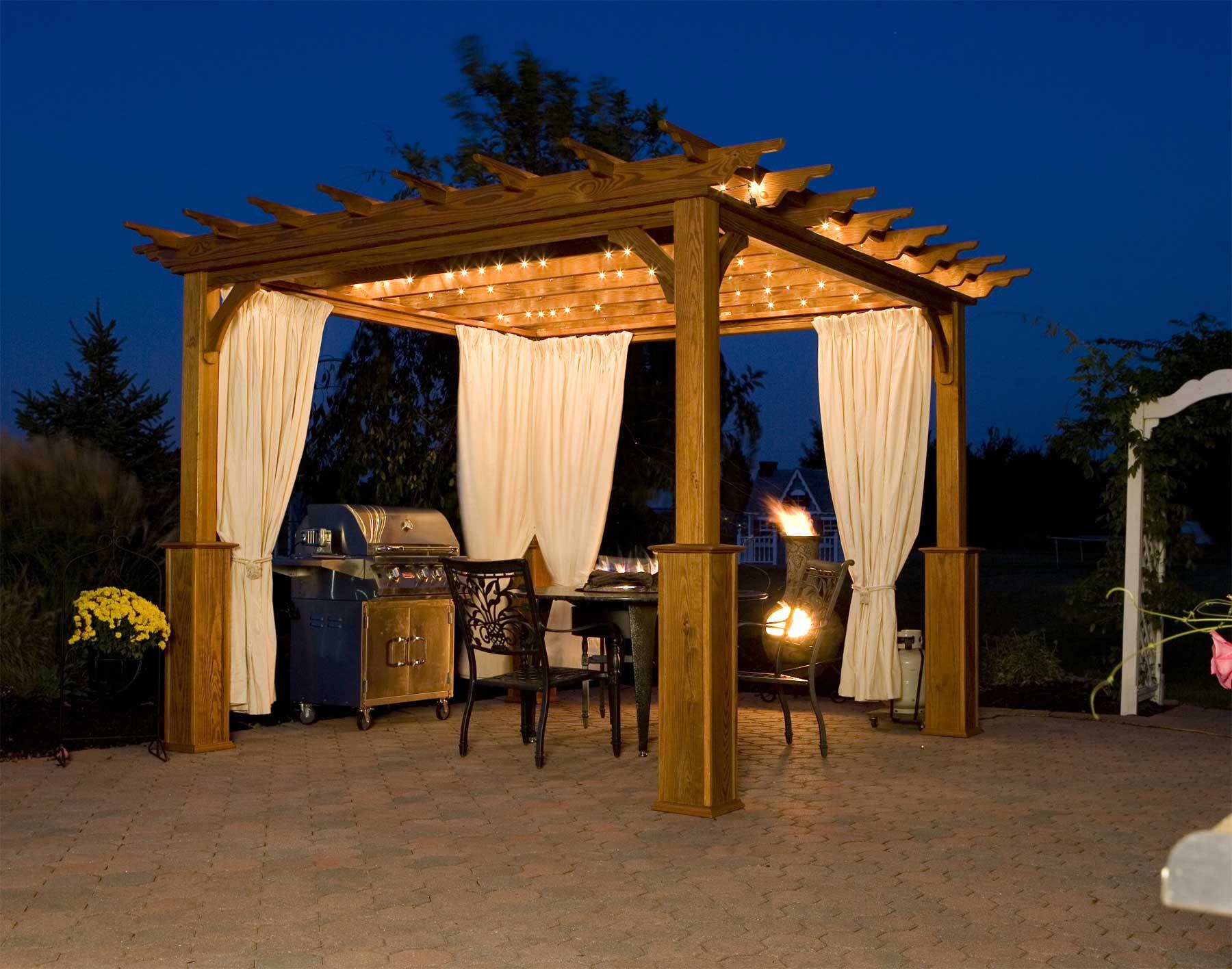 Outdoor Gazebo Lighting Ideas - HomesFeed on Outdoor Patio Pavilion id=25256