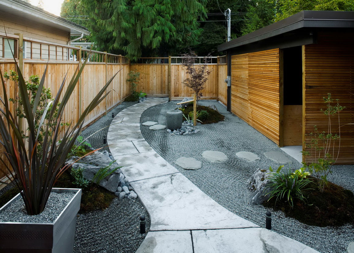 Small Japanese Garden for Green and Refreshing Exhibition ... on Backyard Japanese Garden Design Ideas id=39590