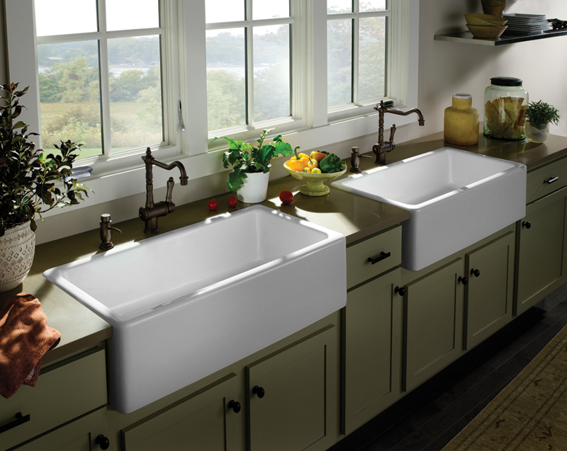 farmhouse sink options for kitchen homesfeed on kitchens with farmhouse sinks id=63633