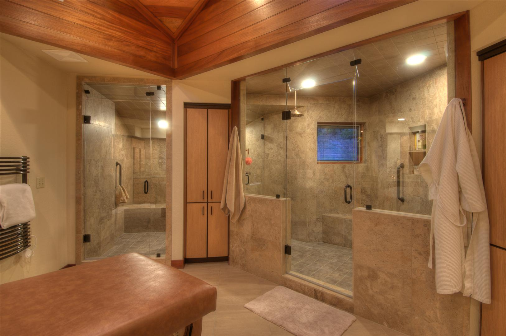 Elegant Shower Ideas for Master Bathroom   HomesFeed awesome shower ideas for master bathroom with double glass walk in shower  with adorable wall and