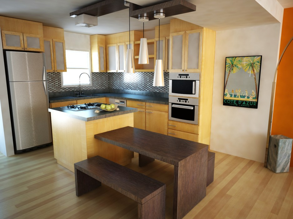 Best Small Kitchen Design with Island for Perfect ... on Best Small Kitchens  id=77408
