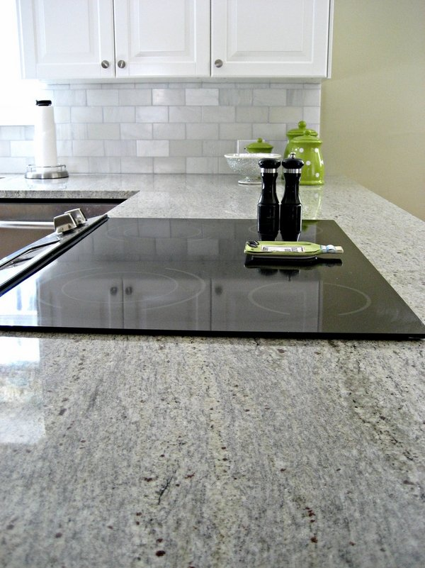 Kashmir white granite countertops Showcasing Striking ... on Backsplash Ideas For White Cabinets And Granite Countertops  id=20402