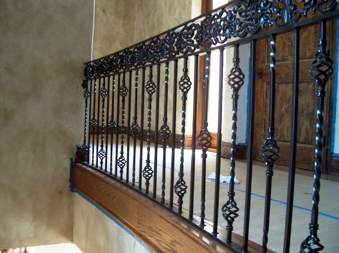 Wrought Iron Stair Railings For Creating Awesome Looking | Rot Iron Stair Railing