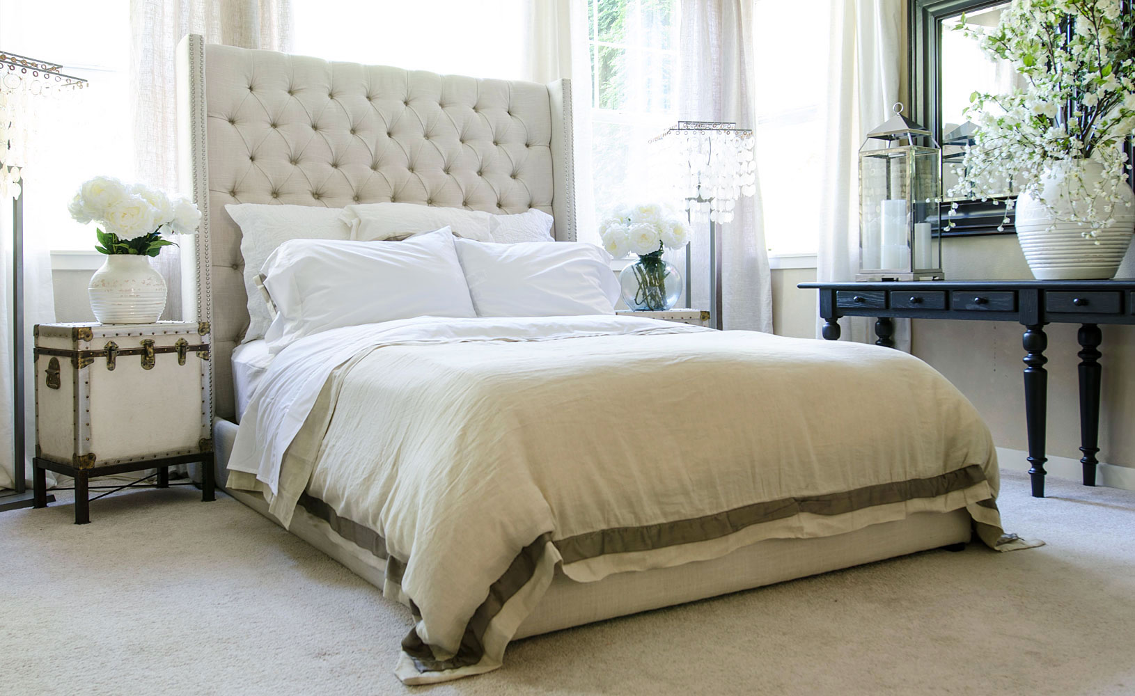 Awe-Inspiring Tall Upholstered Beds that will Enhance Your ... on Comfy Bedroom Ideas  id=63242