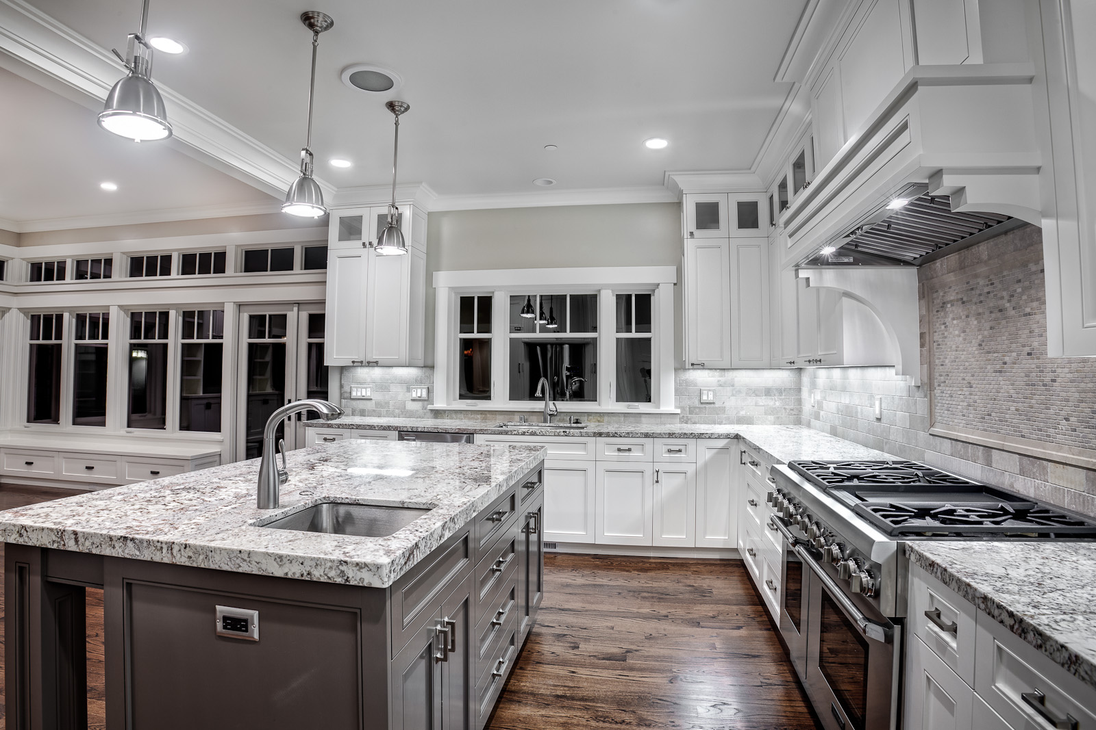 Kashmir white granite countertops Showcasing Striking ... on Backsplash Ideas For White Cabinets And Granite Countertops  id=24739