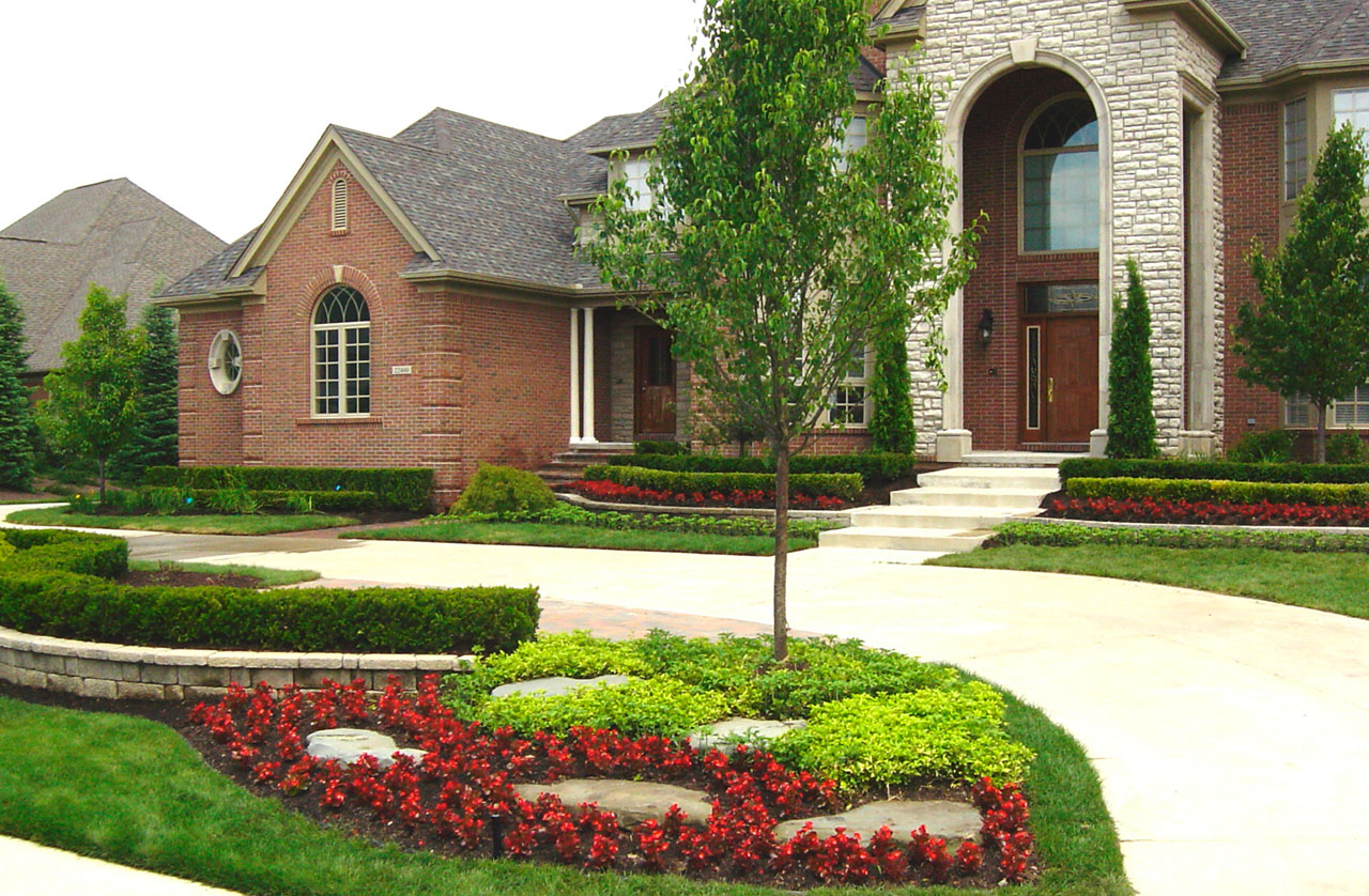 Awesome Front Yard Landscape Plans - HomesFeed on Landscape Front Yard Ideas  id=91985