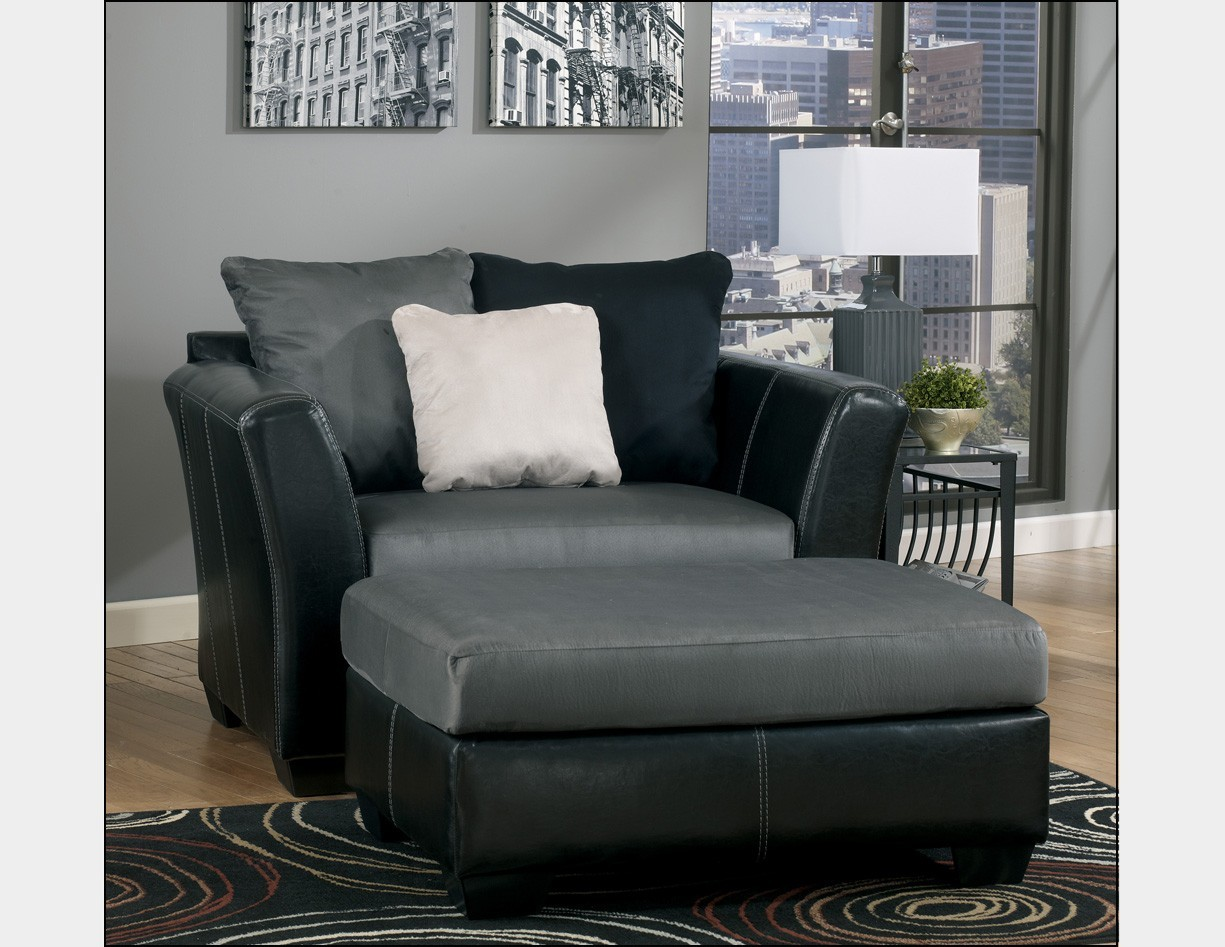 Leather Accent Chair Ottoman
