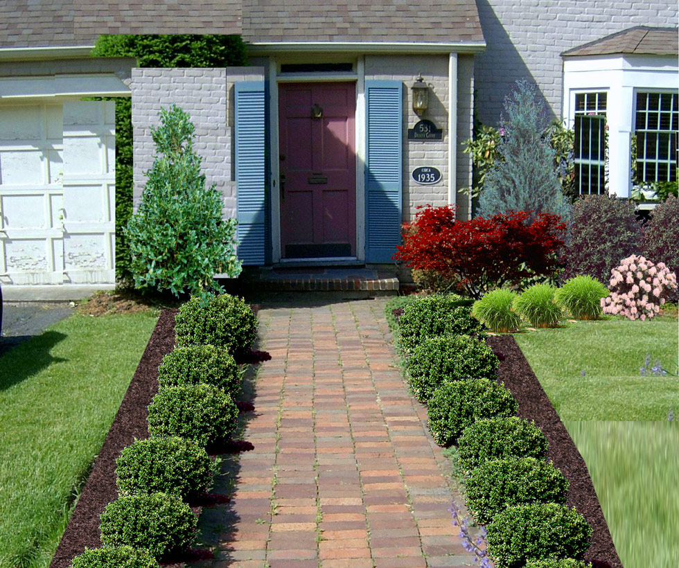 Awesome Front Yard Landscape Plans - HomesFeed on Backyard Landscaping Near Me id=18405