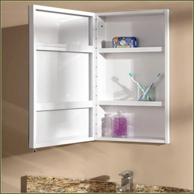 white recessed medicine cabinet with mirror | home design ideas