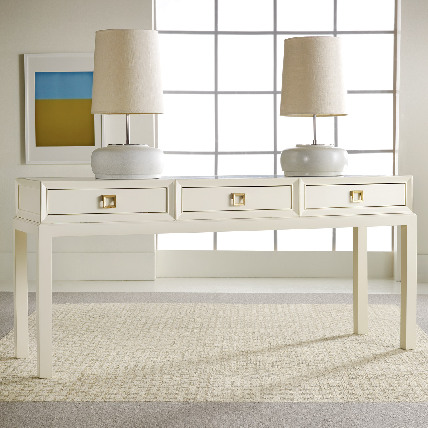 White Lacquer Console Table Product Selections HomesFeed