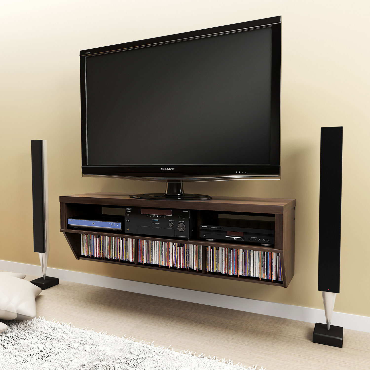 Tv Stands Mounted On The Wall Novocom Top