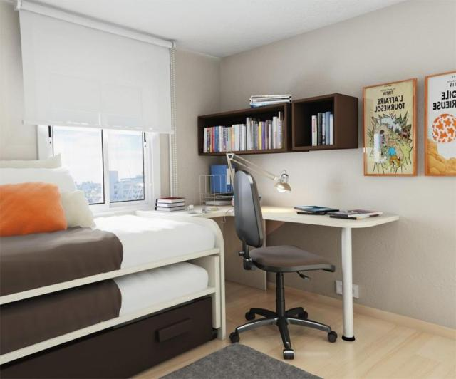 Small bedroom with desk