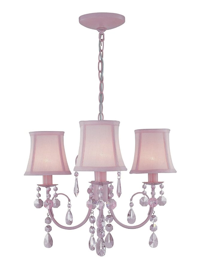 Pink Chandelier For S Room With Triple Lights