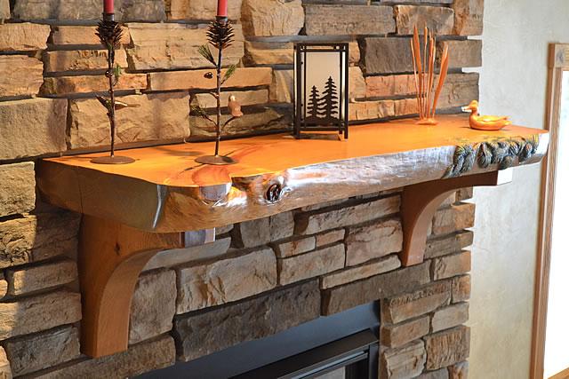 Exelent Ideas Of Reclaimed Wood Mantel HomesFeed