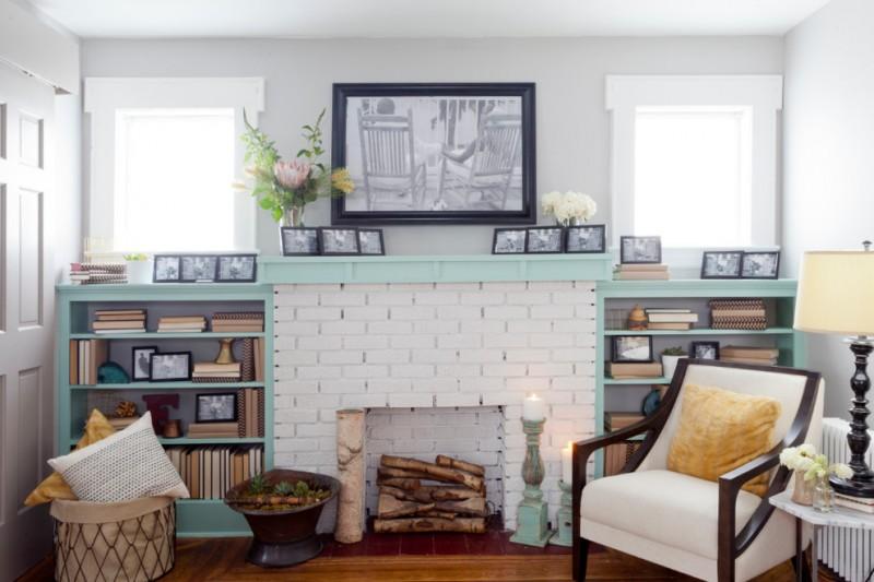 30 Ideas Of Stylish White Brick Fireplace