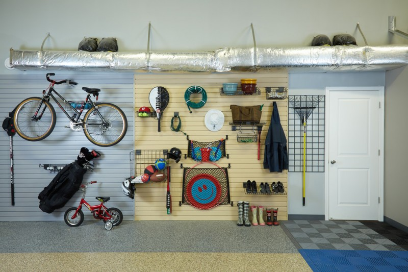 contemporary shed and garage with multi choices of storage solutions