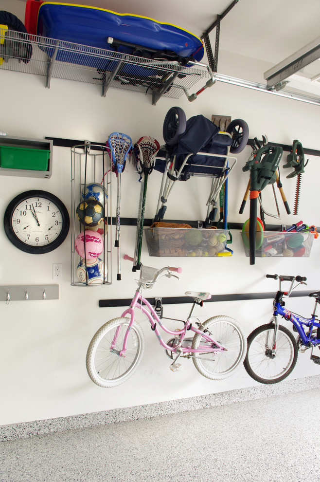 contemporary shed design wall storage solution for bikes and unused things