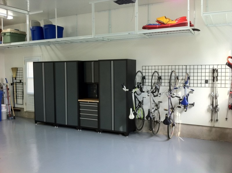 contemporary shed idea garage bike hooks large storage unit in dark tone hanging storage solutions light blue laminated floors