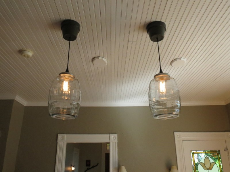 handmade jar pendant lamps with soft and warm glows