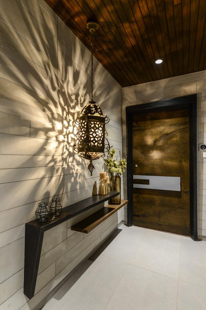 modern entryway hand carved pendant light dark finishing wood shelf for entryway
