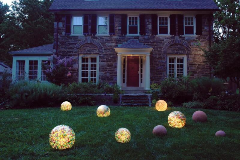 traditional landscape idea night orbs light fixtures