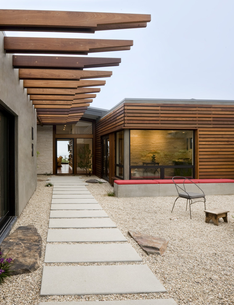 Ten Modern Concrete Hardscape Applications for Homes ... on Modern Siding  id=49031