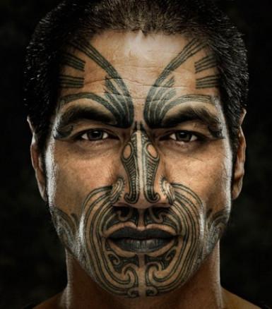 I met a Maori man with a full Face Moku in Edinburgh - I think
