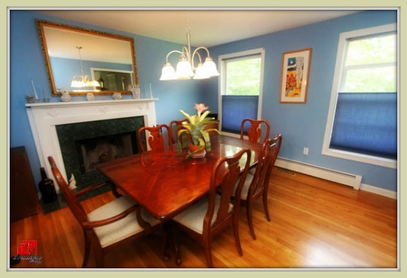 The formal dining room of this colonial style Bethel CT home for sale can accommodate 6 up to 8 person.