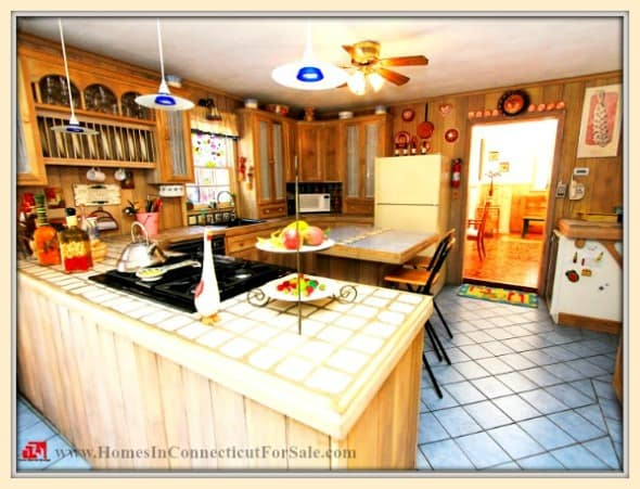 All meals can be cooked to perfection in the open kitchen of this stunning Sherman CT home for sale.
